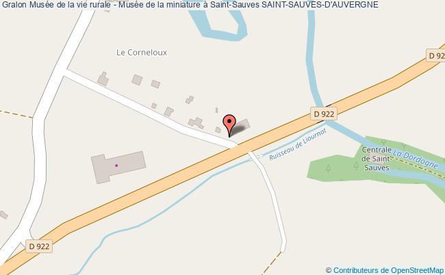 plan association Musée De La Vie Rurale - Musée De La Miniature à Saint-sauves Saint-sauves-d'auvergne SAINT-SAUVES-D'AUVERGNE