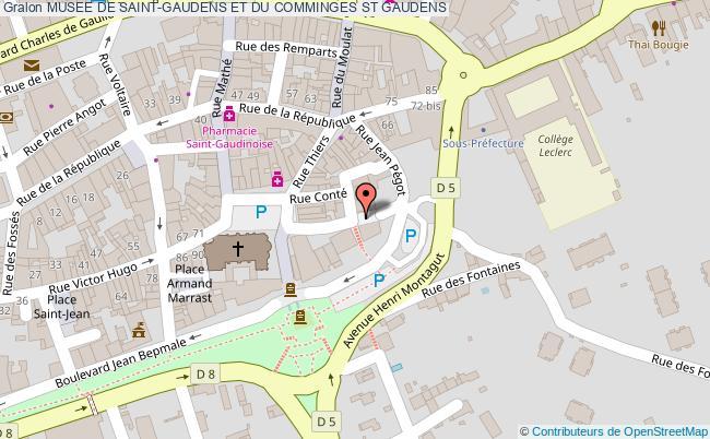 plan Musee De Saint-gaudens Et Du Comminges St Gaudens
