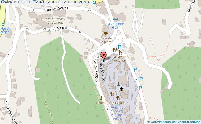 plan Musee De Saint-paul St Paul De Vence