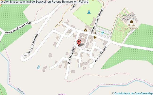 plan Musée Delphinal De Beauvoir En Royans Beauvoir-en-royans