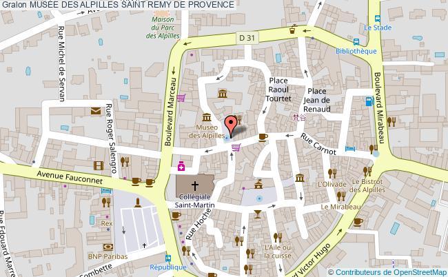plan MusÉe Des Alpilles Saint Remy De Provence