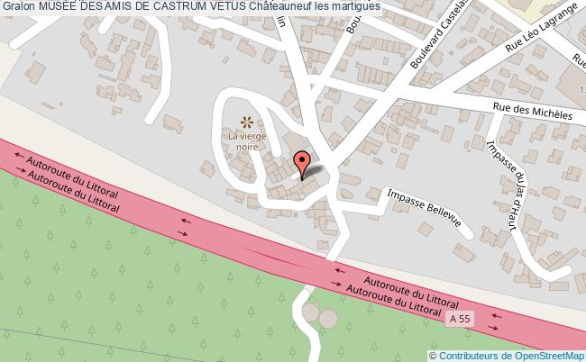 plan association MusÉe Des Amis De Castrum Vetus Châteauneuf Les Martigues Châteauneuf les martigues