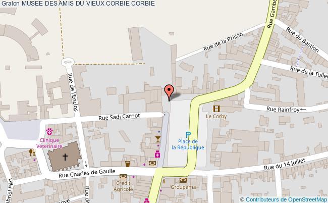 plan Musee Des Amis Du Vieux Corbie Corbie