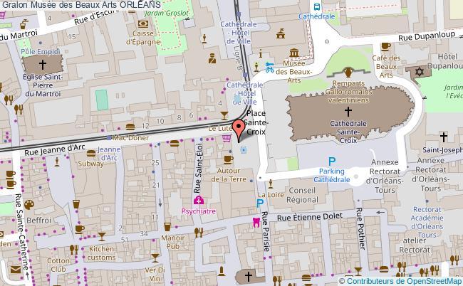 plan Musée Des Beaux Arts Orleans