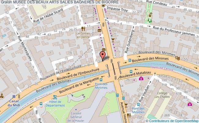 plan association Musee Des Beaux Arts Salies Bagneres De Bigorre BAGNERES DE BIGORRE