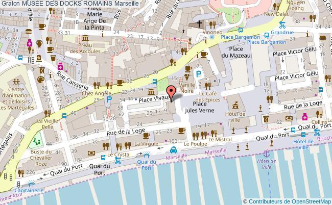 plan MusÉe Des Docks Romains Marseille