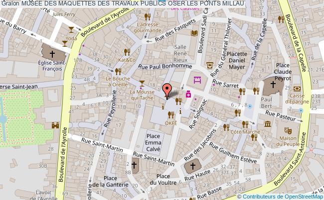 plan Musee Des Maquettes Des Travaux Publics Oser Les Ponts Millau