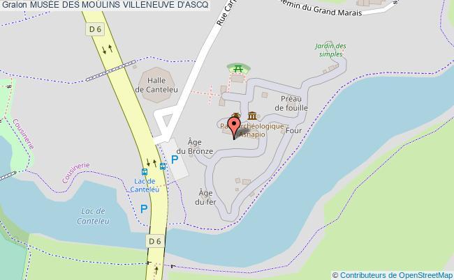 plan association MusÉe Des Moulins Villeneuve D'ascq VILLENEUVE D'ASCQ