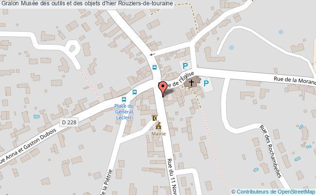 plan Musée Des Outils Et Des Objets D'hier Rouziers-de-touraine