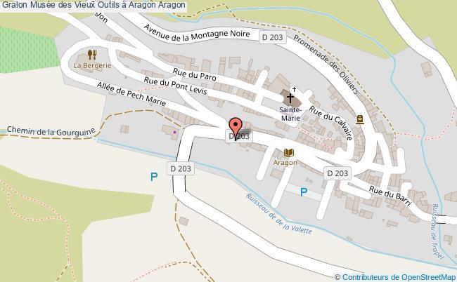plan Musée Des Vieux Outils à Aragon Aragon