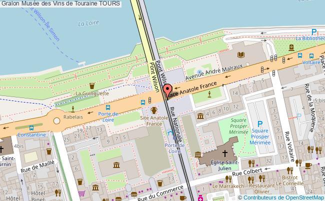 plan association Musée Des Vins De Touraine Tours TOURS