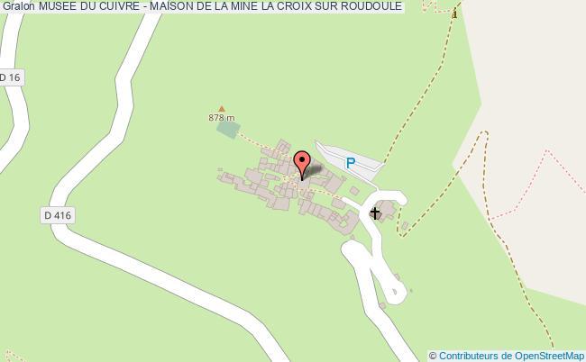 plan Musee Du Cuivre - Maison De La Mine La Croix Sur Roudoule