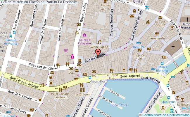 plan Musée Du Flacon De Parfum La Rochelle