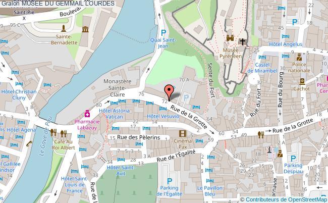 plan Musee Du Gemmail Lourdes