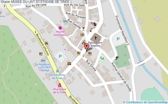 plan Musee Du Lait St Etienne De Tinee