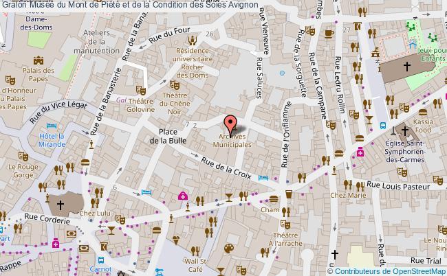 plan association Musée Du Mont De Piété Et De La Condition Des Soies Avignon Avignon