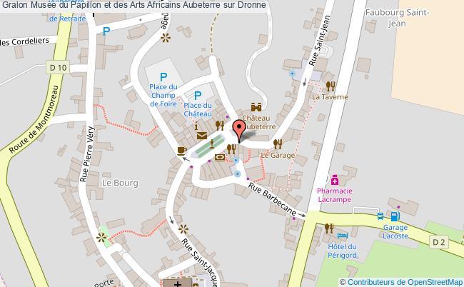 plan association Musée Du Papillon Et Des Arts Africains Aubeterre Sur Dronne Aubeterre sur Dronne