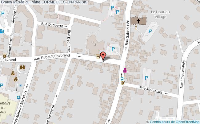 plan Musée Du Plâtre Cormeilles-en-parisis