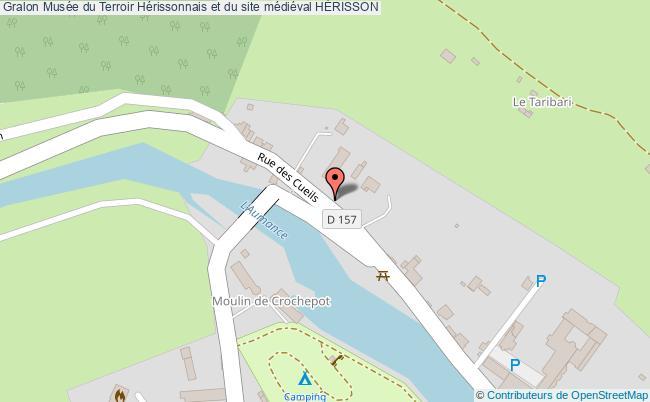 plan Musée Du Terroir Hérissonnais Et Du Site Médiéval HÉrisson