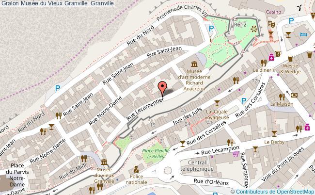 plan Musée Du Vieux Granville  Granville