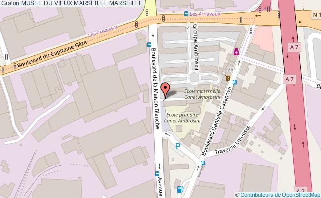 plan MusÉe Du Vieux Marseille Marseille