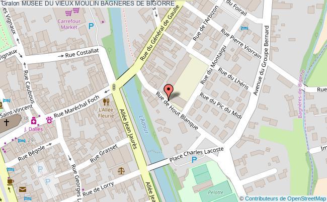 plan association Musee Du Vieux Moulin Bagneres De Bigorre BAGNERES DE BIGORRE