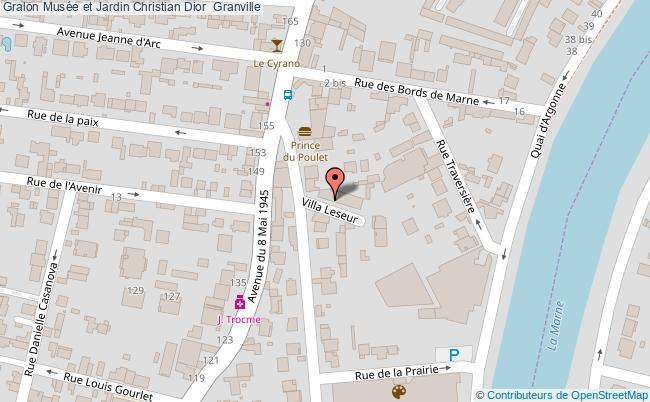 plan Musée Et Jardin Christian Dior  Granville