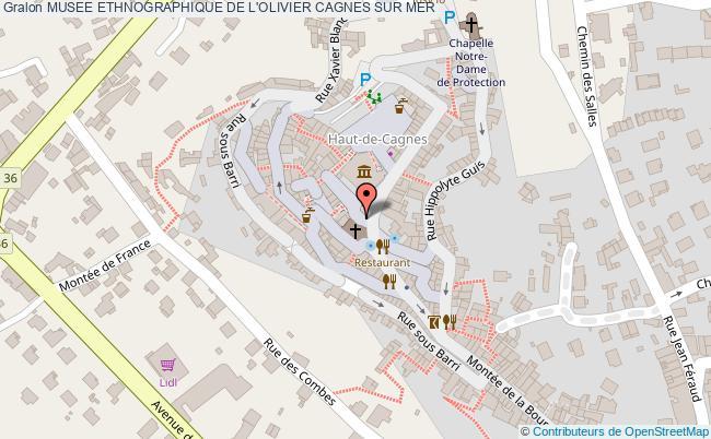 plan association Musee Ethnographique De L'olivier Cagnes Sur Mer CAGNES SUR MER