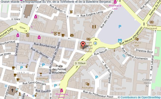 plan Musée Ethnographique Du Vin, De La Tonnellerie Et De La Batellerie Bergerac