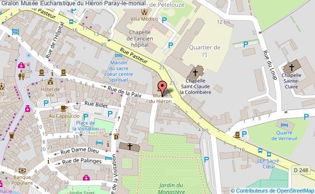 plan Musée Eucharistique Du Hiéron Paray-le-monial