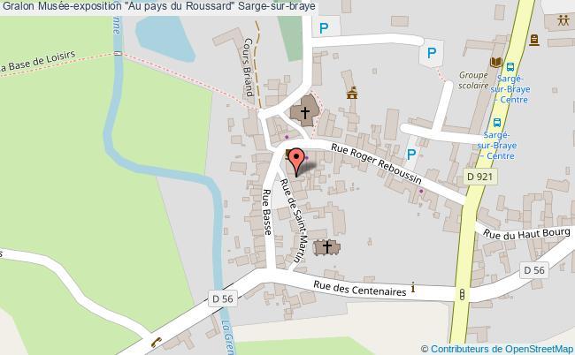 """plan association Musée-exposition """"au Pays Du Roussard"""" Sarge-sur-braye Sarge-sur-braye"""