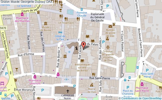 plan association Musée Georgette Dupouy Dax DAX