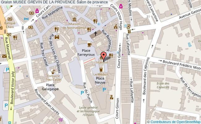 plan MusÉe GrÉvin De La Provence Salon De Provence