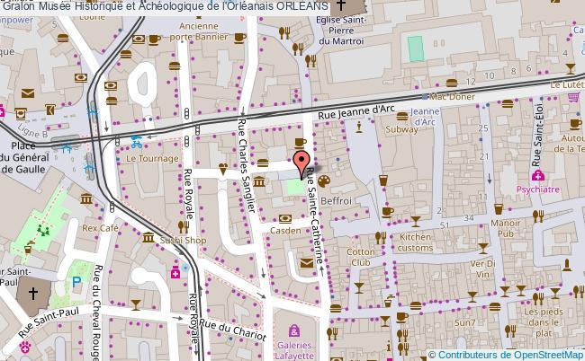 plan Musée Historique Et Achéologique De L'orléanais Orleans