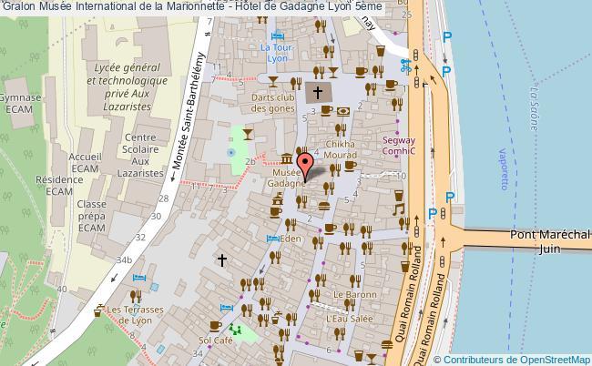 plan Musée International De La Marionnette - Hôtel De Gadagne Lyon 5ème