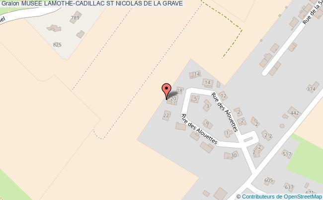 plan Musee Lamothe-cadillac St Nicolas De La Grave