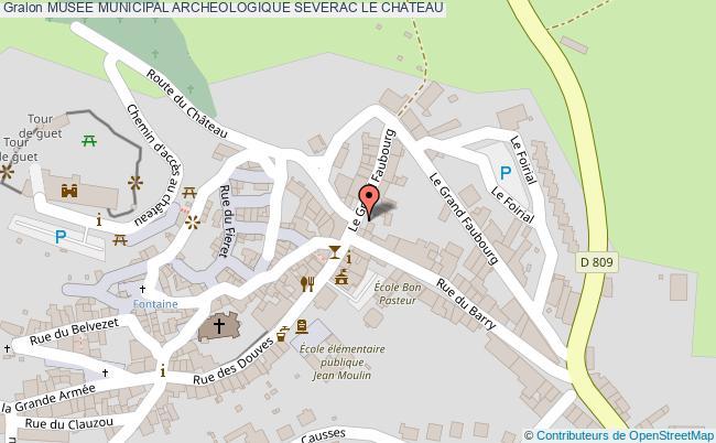 plan Musee Municipal Archeologique Severac Le Chateau