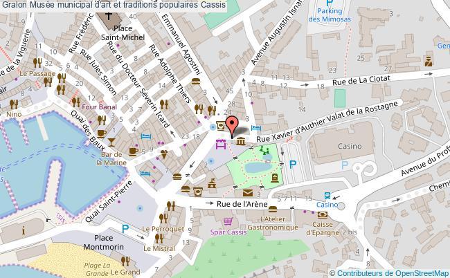 plan Musée Municipal D'art Et Traditions Populaires Cassis