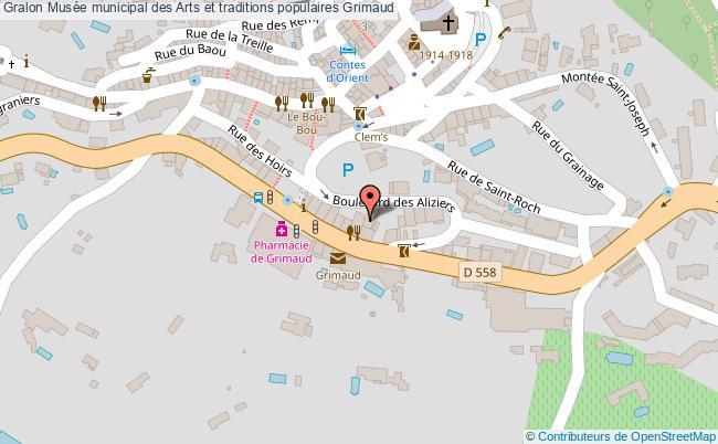 plan association Musée Municipal Des Arts Et Traditions Populaires Grimaud Grimaud