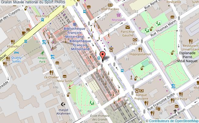 plan Musée National Du Sport Paris
