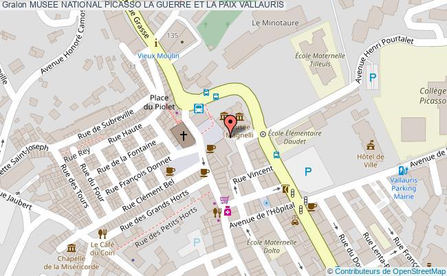 plan Musee National Picasso La Guerre Et La Paix Vallauris
