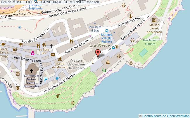 plan Musee Oceanographique De Monaco Monaco