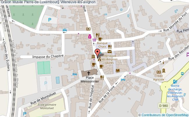 plan Musée Pierre-de-luxembourg Villeneuve-lès-avignon