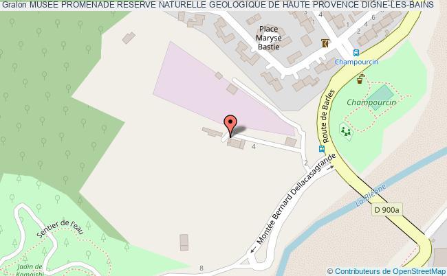 plan Musee Promenade Reserve Naturelle Geologique De Haute Provence Digne-les-bains