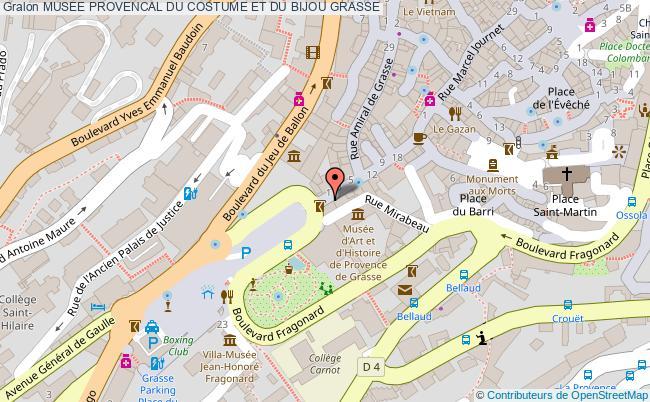 plan association Musee Provencal Du Costume Et Du Bijou Grasse GRASSE