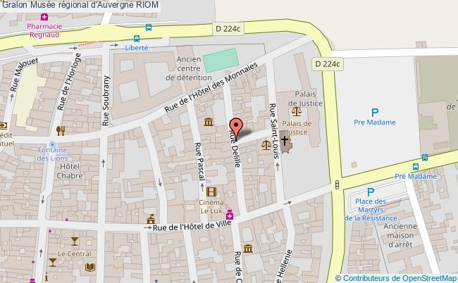 plan Musée Régional D'auvergne Riom