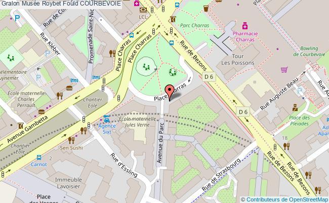 plan association Musée Roybet Fould Courbevoie COURBEVOIE