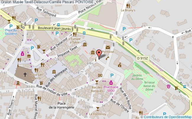 plan association Musée Tavet-delacour/camille Pissaro Pontoise PONTOISE