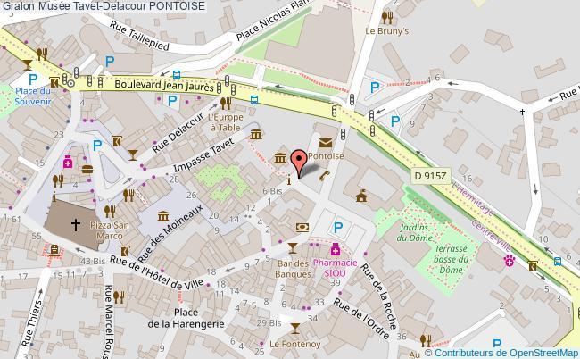 plan association Musée Tavet-delacour Pontoise PONTOISE