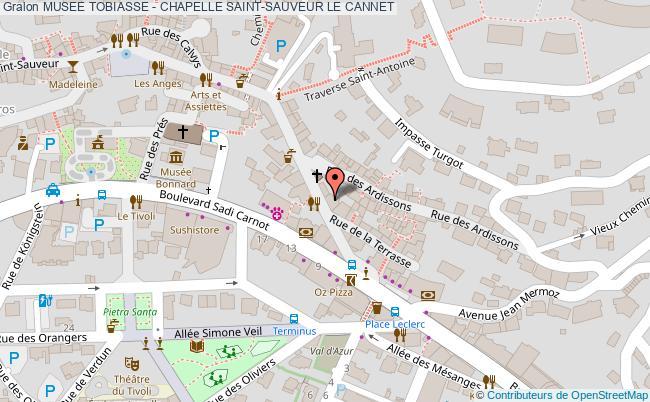 plan Musee Tobiasse - Chapelle Saint-sauveur Le Cannet